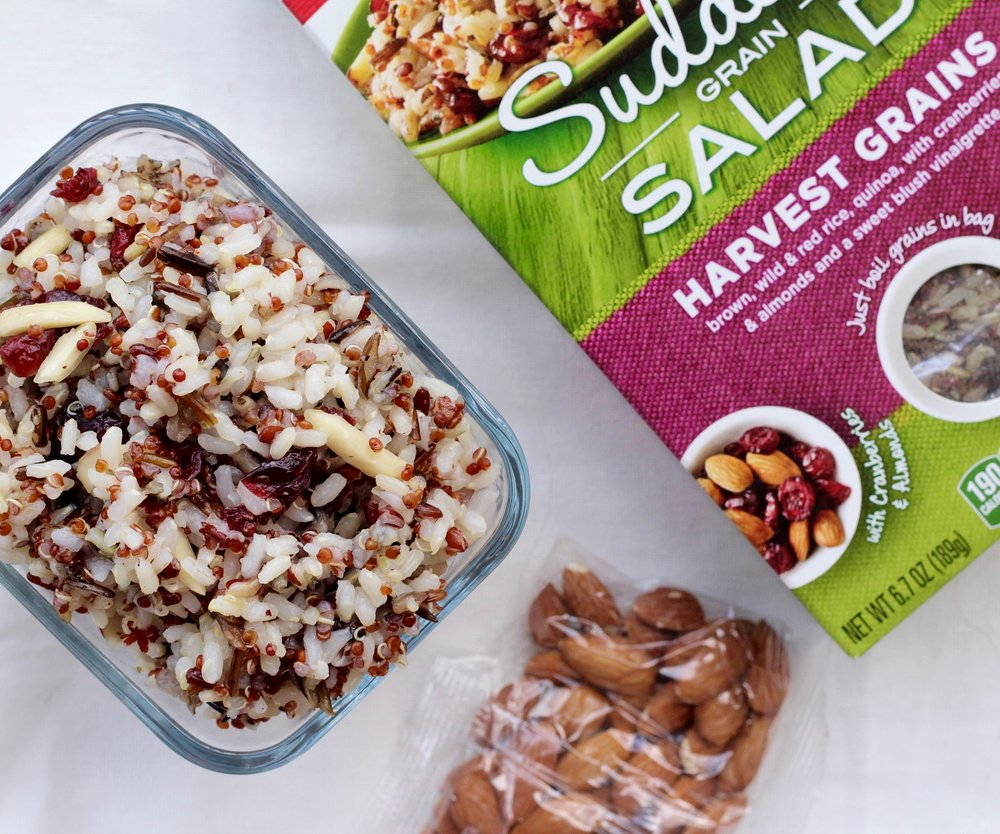 Quinoa almond cranberry summer pasta salad