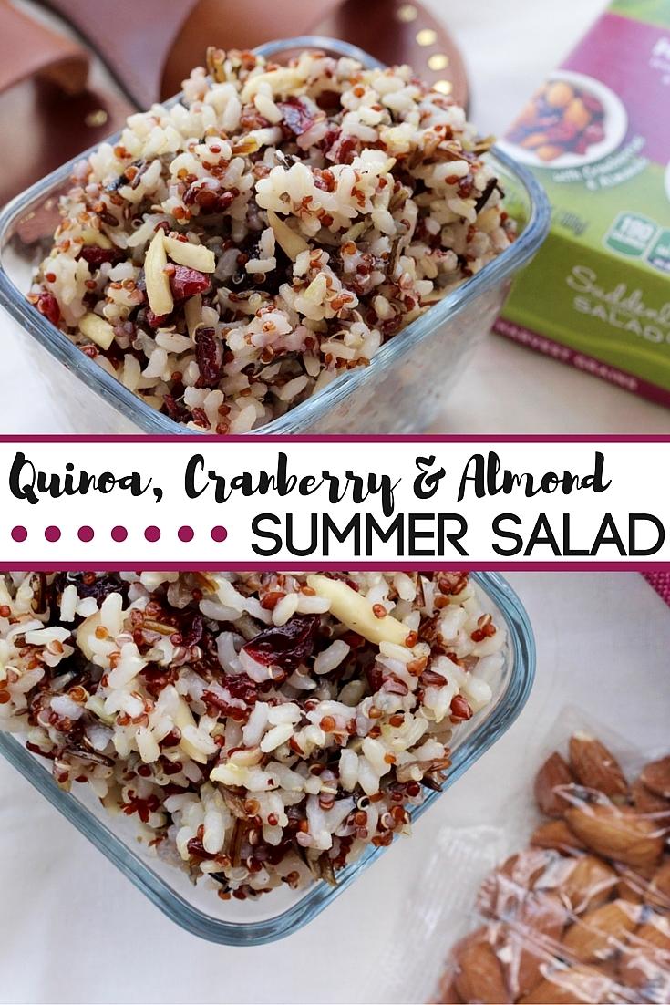 Quinoa Almond & cranberry summer salad