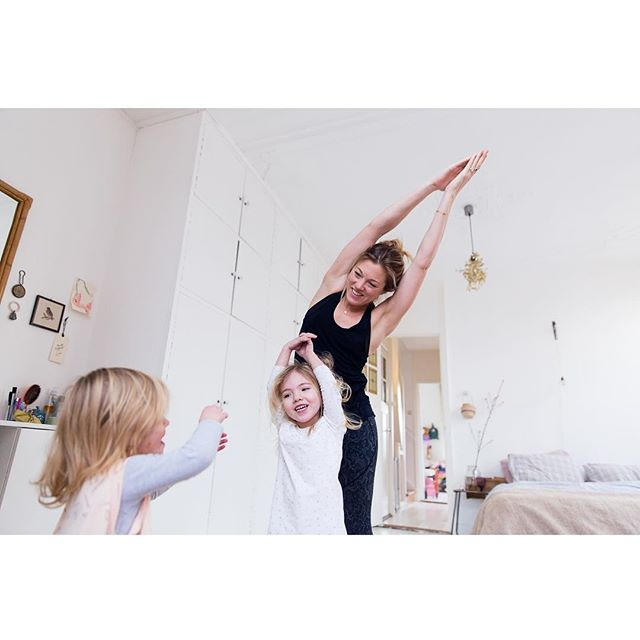 Here's to yoga-with-kids