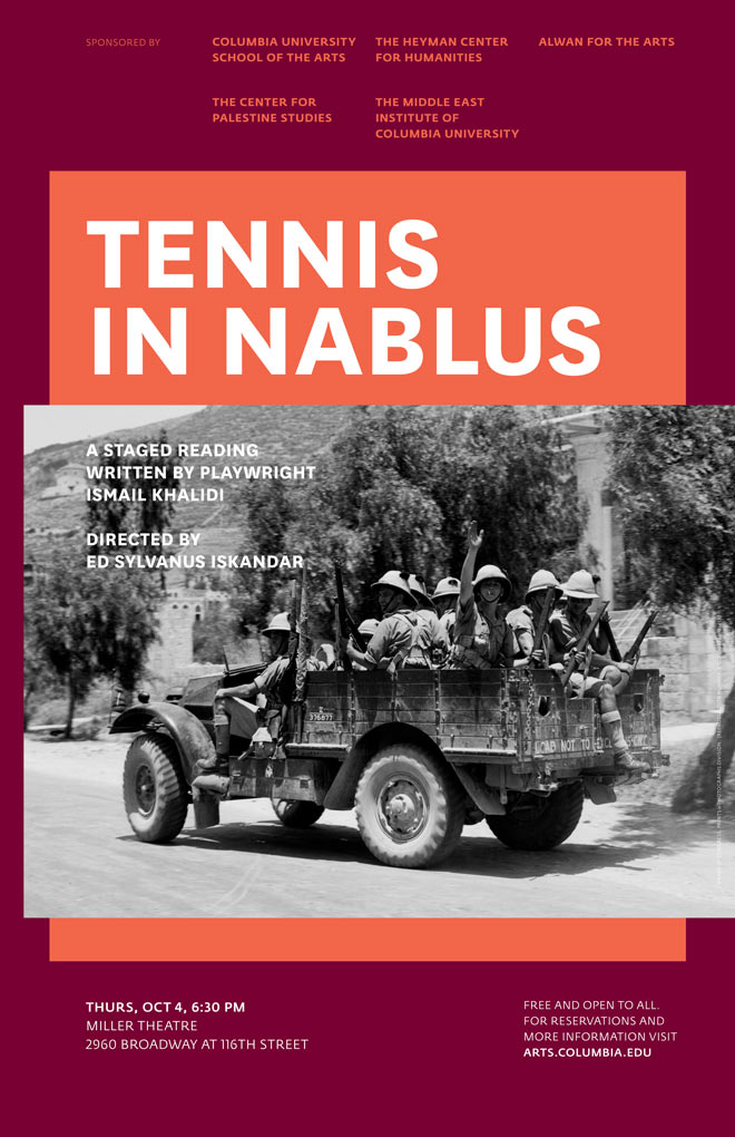 CPS Center for Palestine Studies Tennis in Nablus