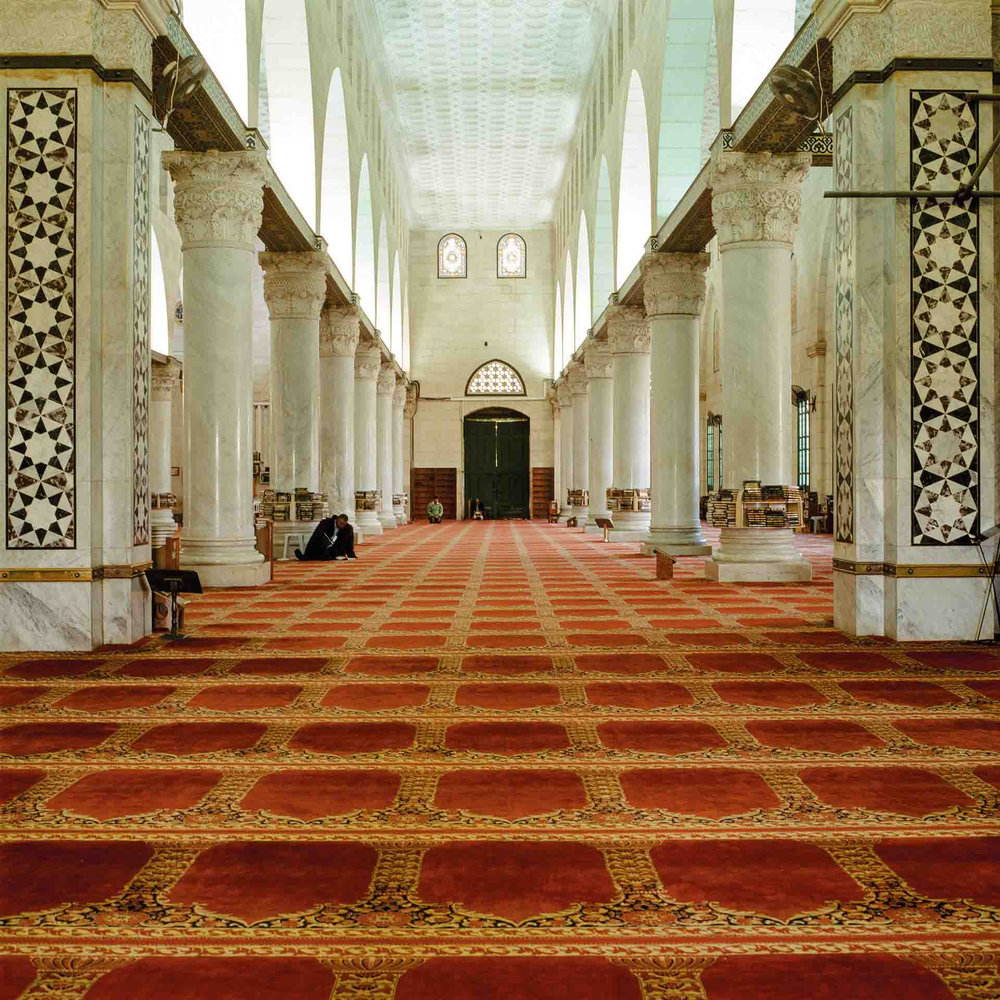 Federico Busonero,  THE LAND THAT REMAINS Al-Aqsa Mosque, Jerusalem , Archival pigment print on Canson Platine paper, 90 cm x 90 cm (image size); 100 cm x 100 cm (paper size), 2009