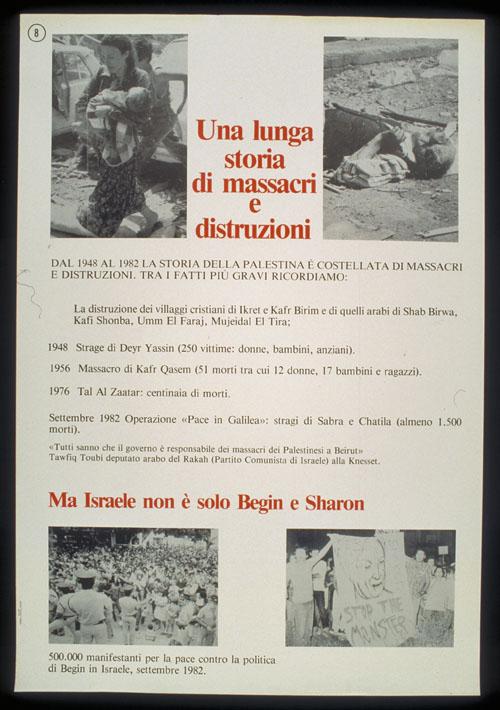 Translation/Interpretation/Caption Text: Italian translation: A long story of massacres and destruction