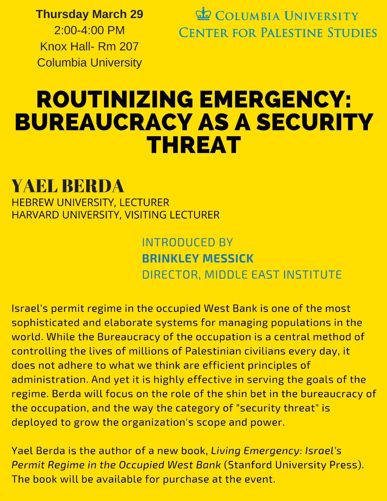 Routinizing Emergency: Bureaucracy as a Security Threat