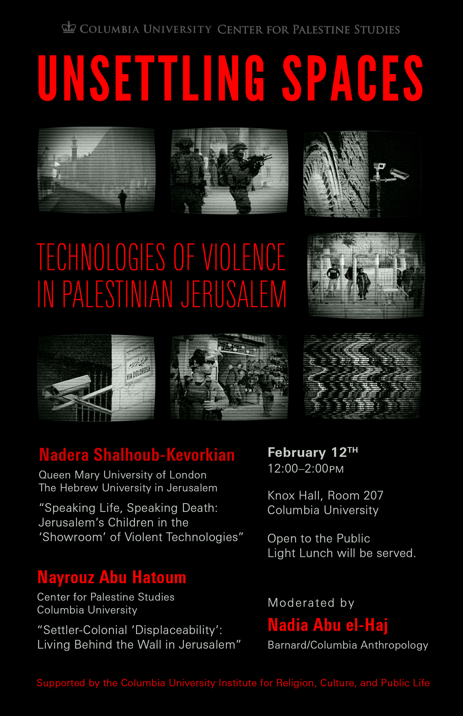 Unsettling Spaces: Technologies of Violence in Palestinian Jerusalem
