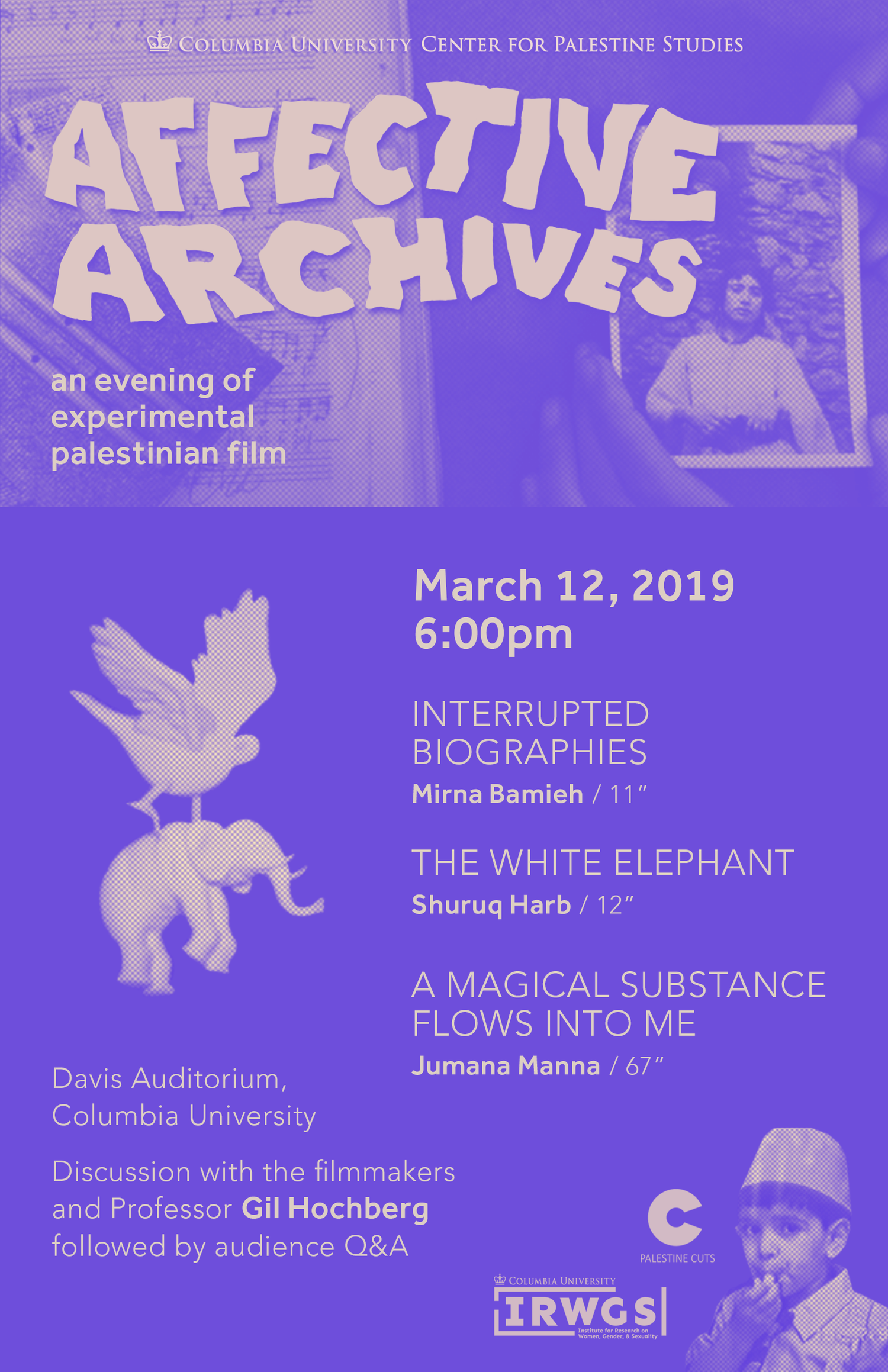 Affective Archives: An Evening of Experimental Palestinian Film