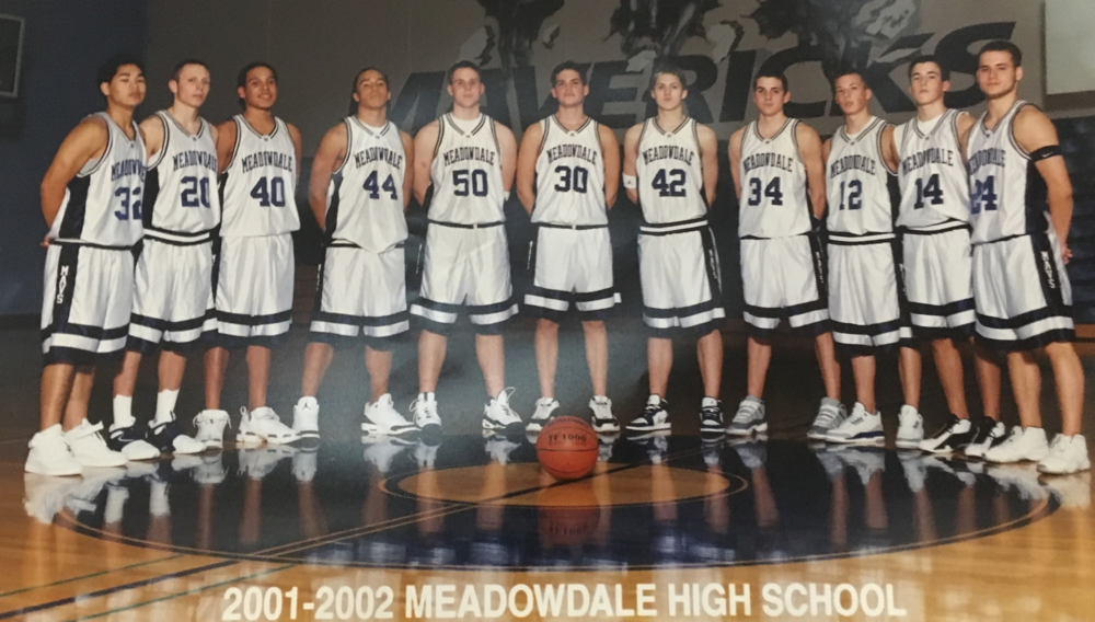 Left to right: Joe Trias, Chris Rohrbach, Justin Dennis, Grant Schroff, Jeff Larson, Tyler Milam, Trevor Winnie, Aaron Smith, Taylor Marsh.