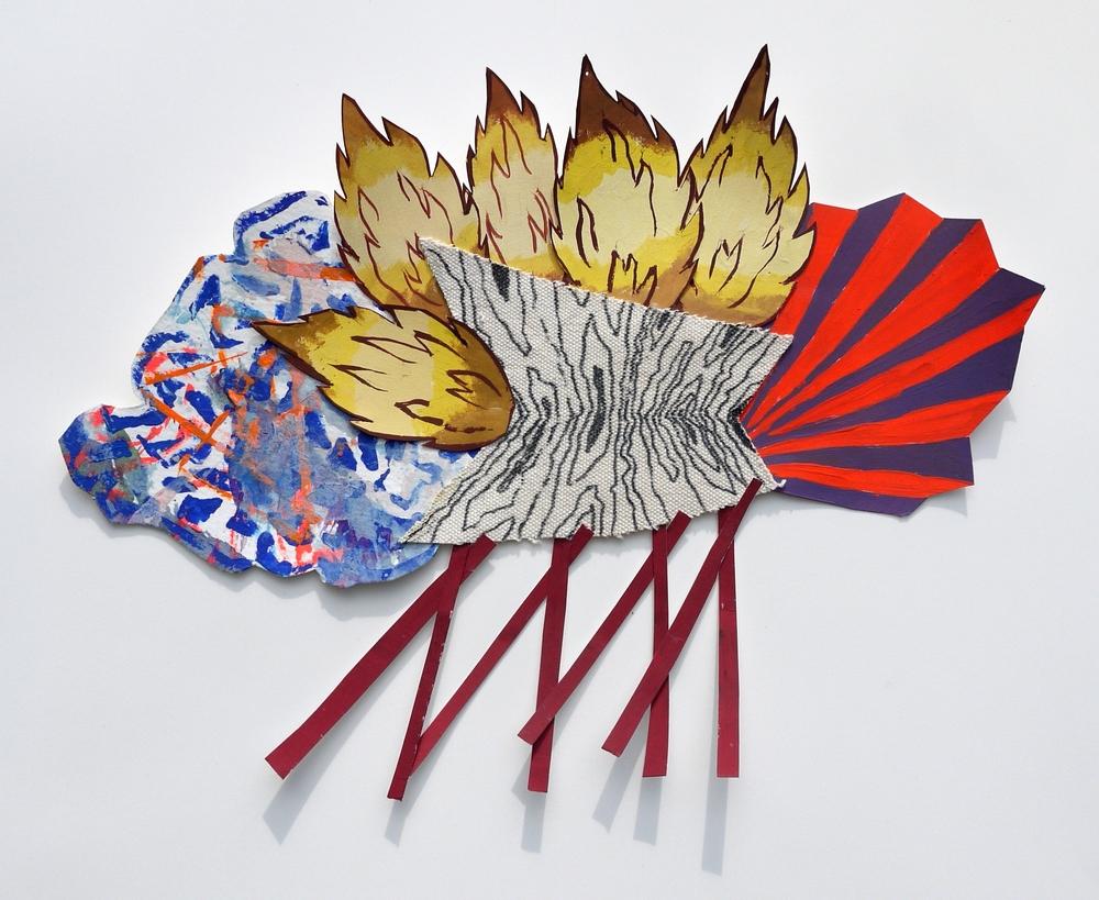 Gouache, acrylic, paper, canvas, adhesive 2014