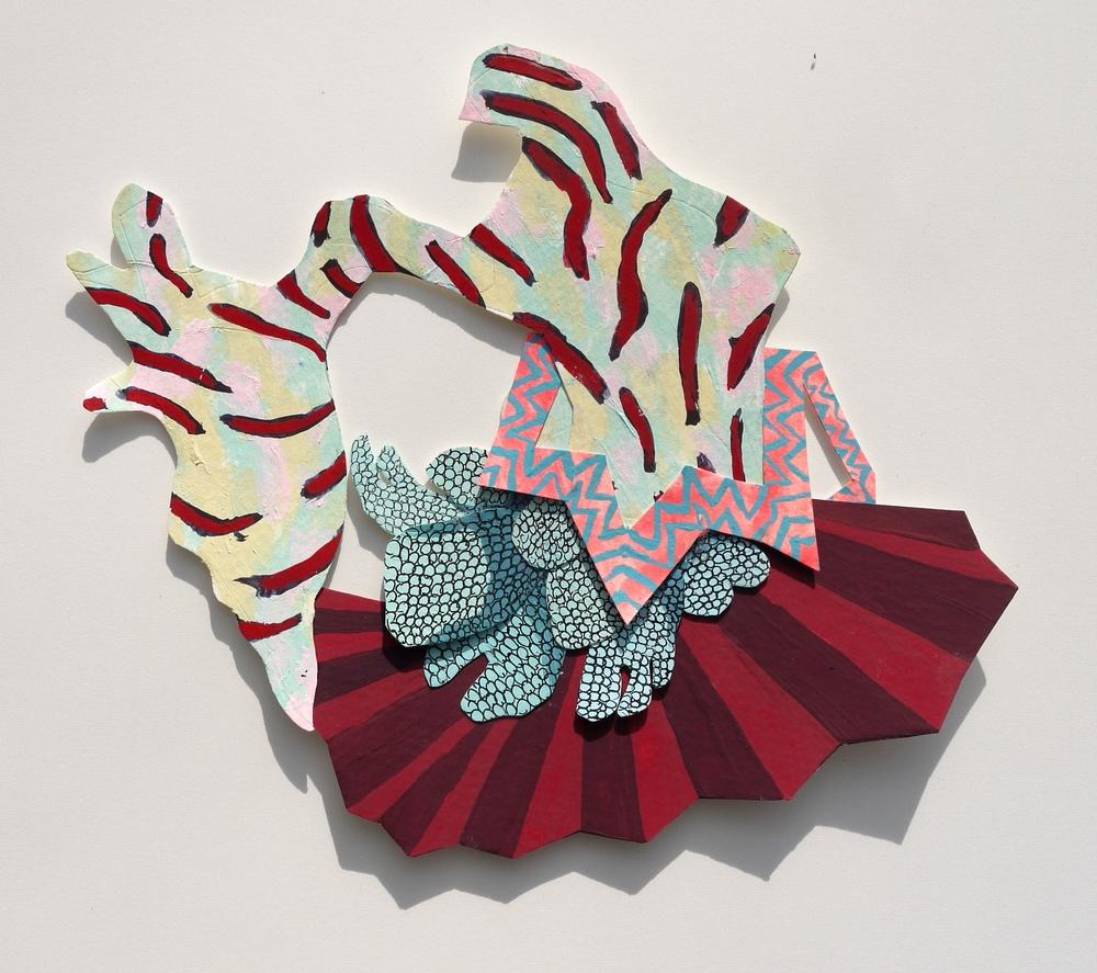 Gouache, acrylic, paper, adhesive 2014