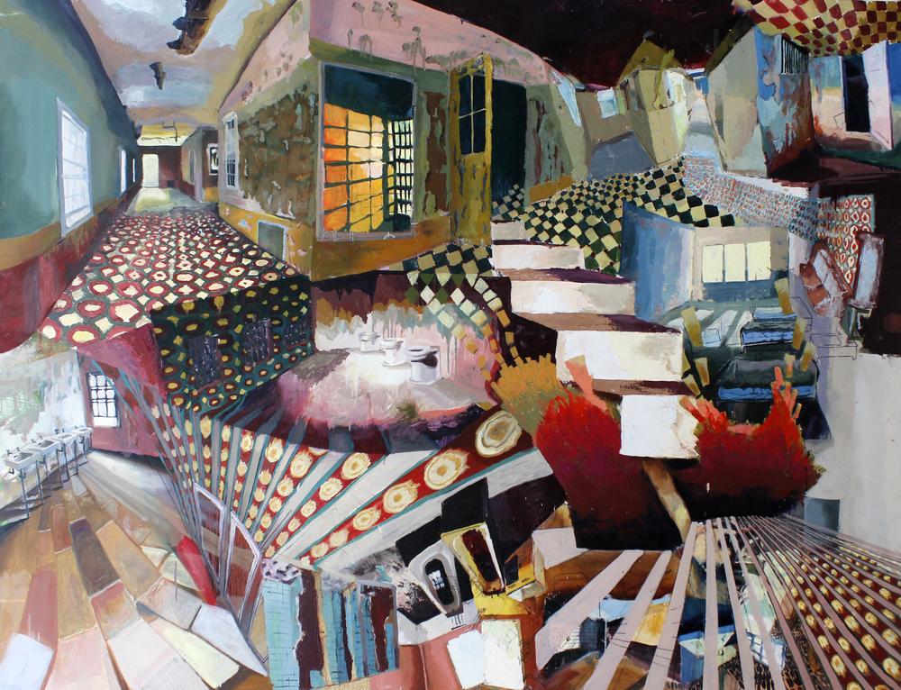 "Flush     Oil on Canvas    60"" x 84""    2012"