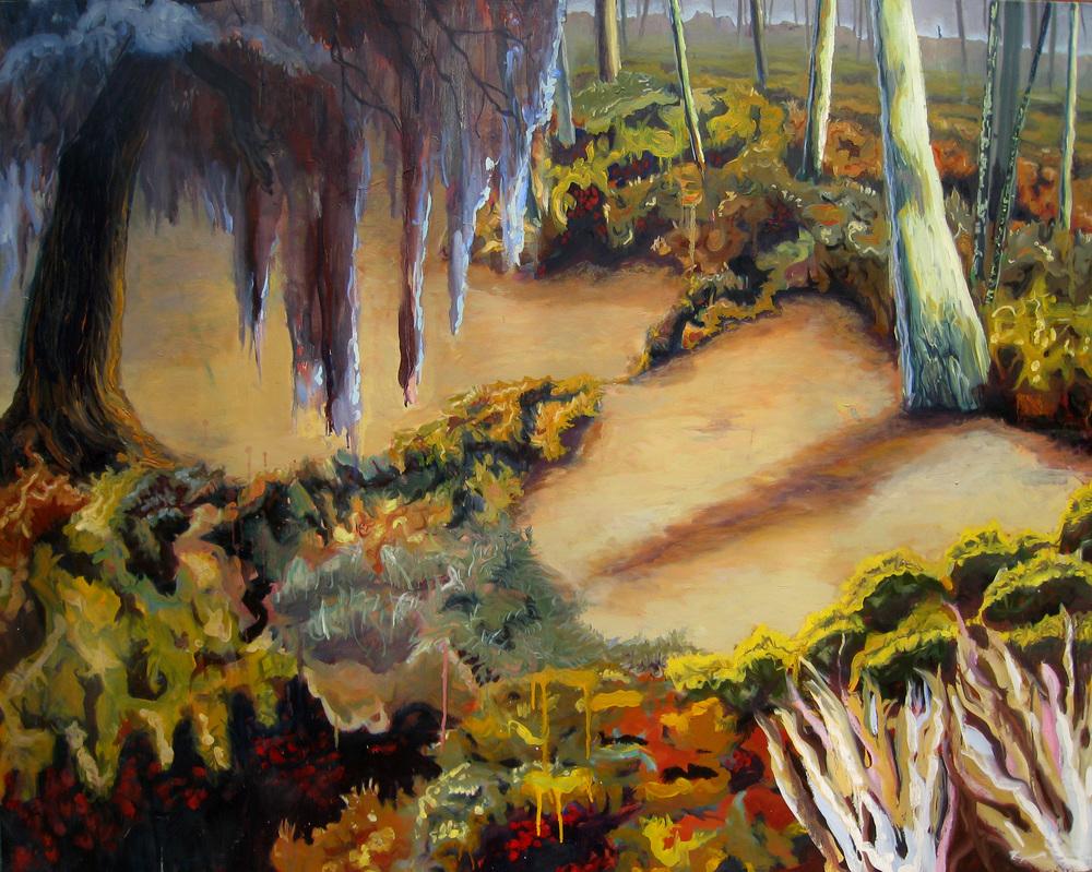 "Bone Dry     Oil on canvas     48"" x 60""     2011"