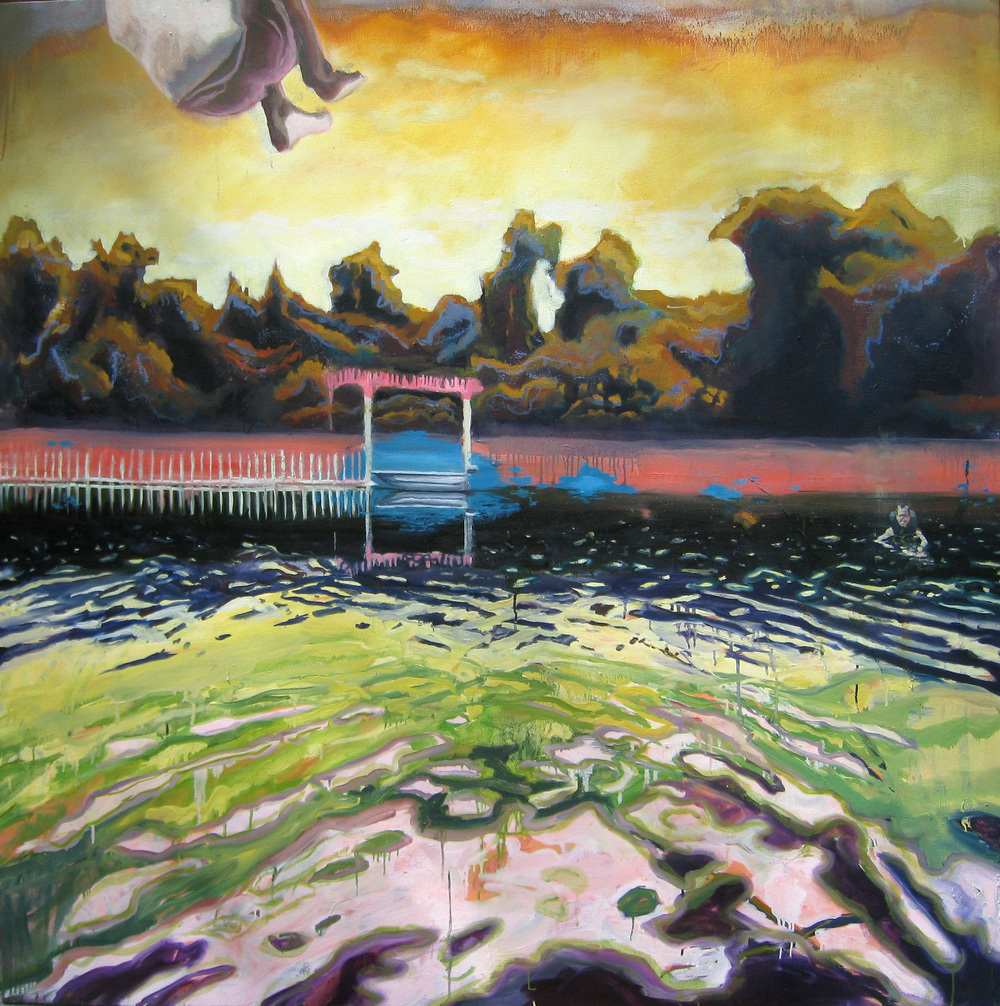 "Levitation     Oil on canvas     60"" x 60""     2011"