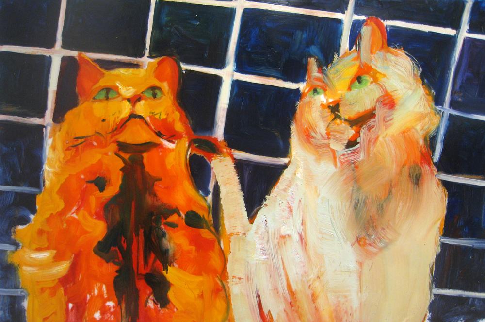 "Study  oil on mylar  22"" x 30""  2011"