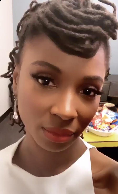 Crystal Quartz earrings worn by Shanola Hampton from  Shameless