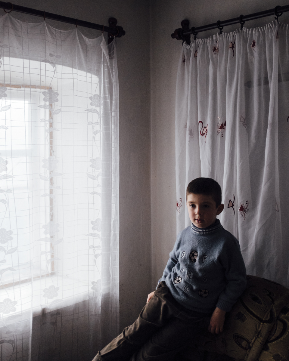 Gafar lives in the split City of Mariinka in east Ukraine on the grey zone
