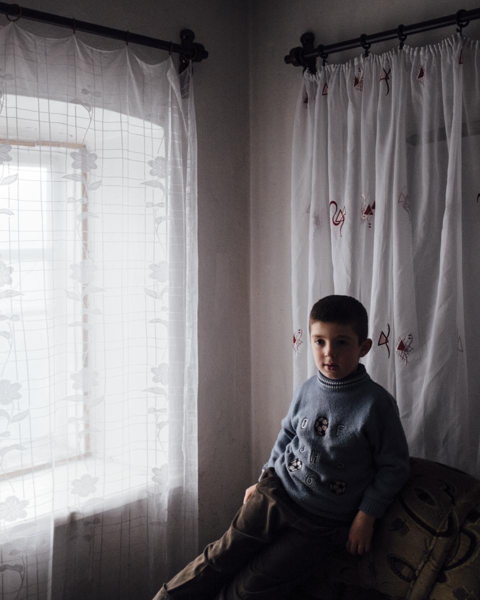 Gafar lives in the split City of Mariinka in east Ukraine on the grey zone