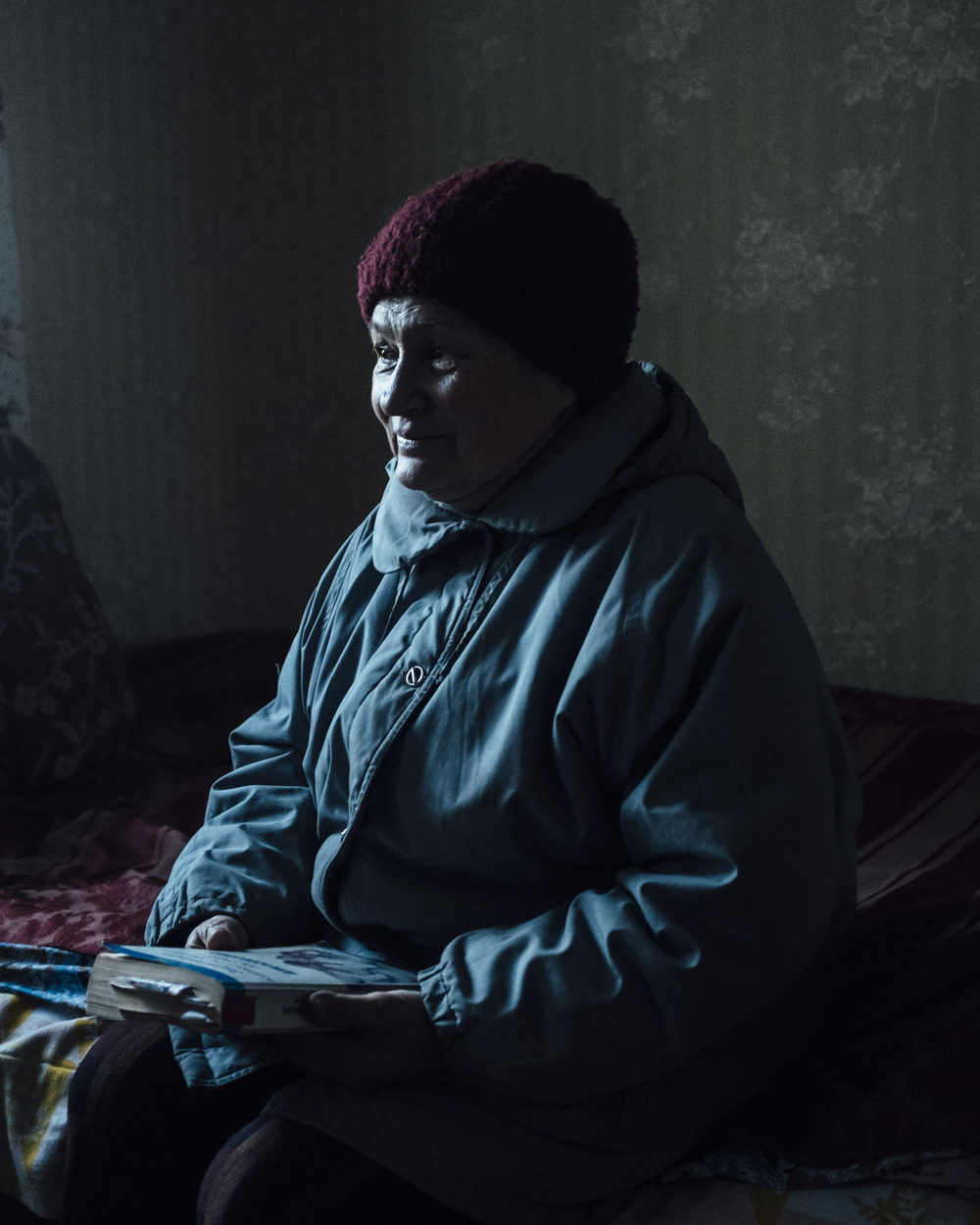 Svetlana is sitting in the living room in her house in the hard hit town of pesky. She was talking about the war and how pesky is affected by it.