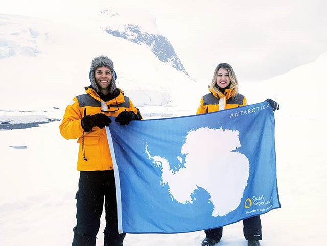 She made it into the 7th continent club! #zenluxurytravel #travel #adventure #bucketlist #antarctica #snowing