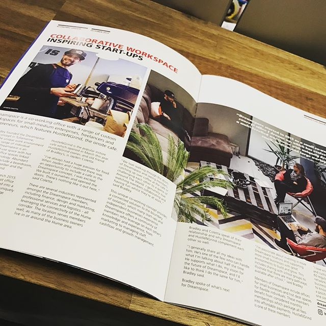 Nice article on @dreamspaceoffice in the @discoverhume economic development magazine. Worth a read 👌 Thanks @discoverhume for the love. #dreamspaceoffice #hustleharder #hustle #hustlengrindco #discoverhume