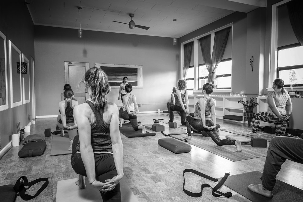 """Come breathe, flow, sweat and get grounded. Leave your worries and shoes at the door. Dive into your practice and find yourself at Pure Healing Yoga."""