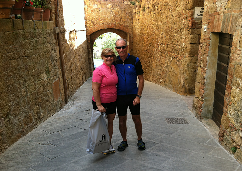 with my husband, Ed, Italy – 2012