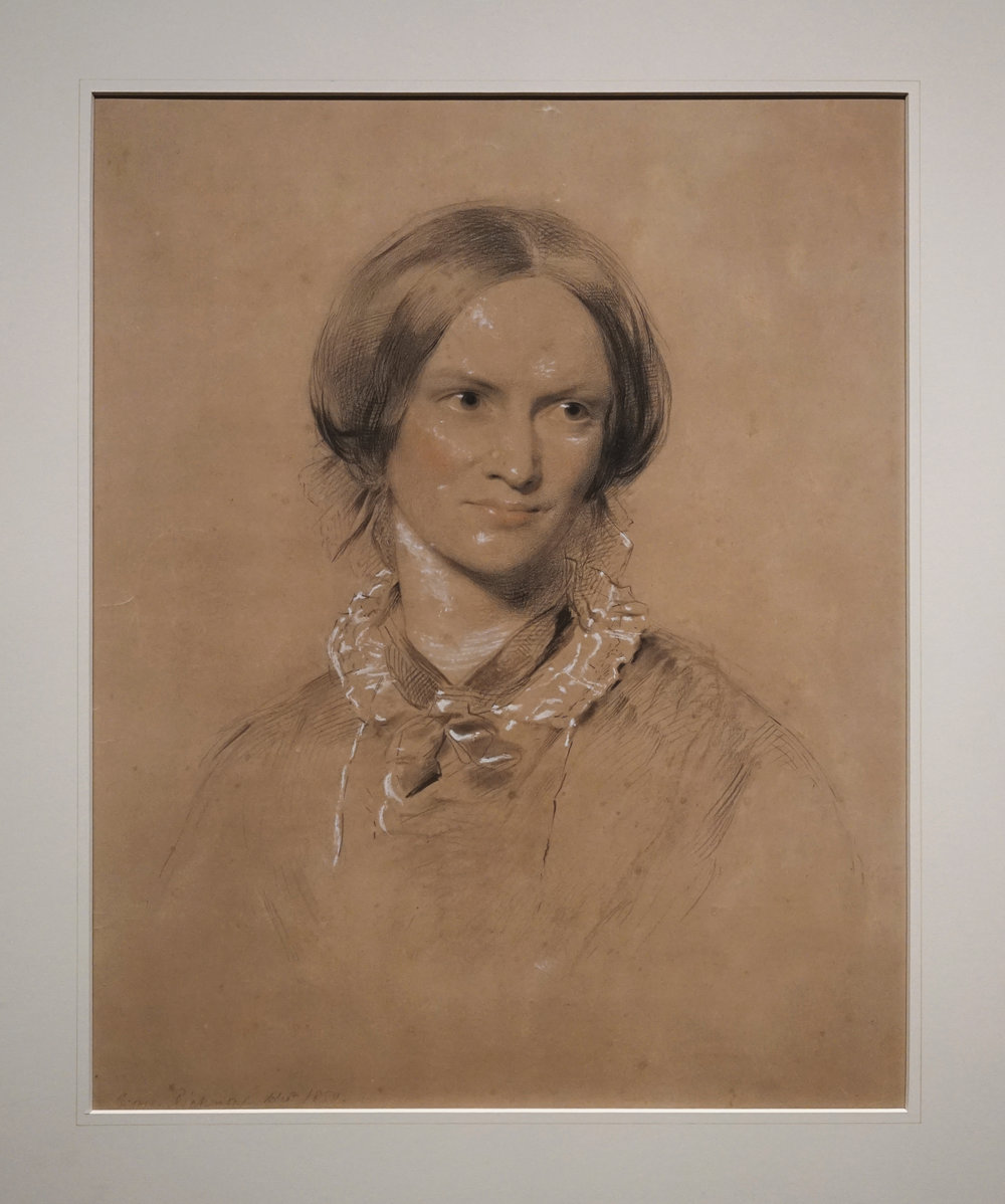 The Richmond portrait of Charlotte Brontë  In 1850, publisher George Smith commissioned this portrait of his celebrated author as a gift for her father, Patrick. Sitting for a professional artist was traumatic for the self-conscious Brontë, but none of her discomfort is evident in George Richmond's graceful rendering. This is the only professional portrait for which she sat during her lifetime and the only surviving life portrait except for her brother Branwell's painting of his sisters.  The portrait hung in the dinning room of Haworth parsonage during Patrick Brontë's lifetime, and an engraving of the work served as the frontis-piece to the first volume of Elizabeth Gaskell's 1857  Life of Charlotte Brontë.  It has appeared in countless studies of the Brontë's since then and is on view in North America for the first time.