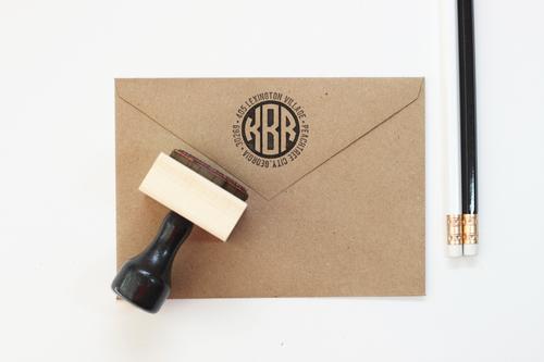 Rubber Address Stamp   Monogram Stamp   Wedding Address Stamp ...