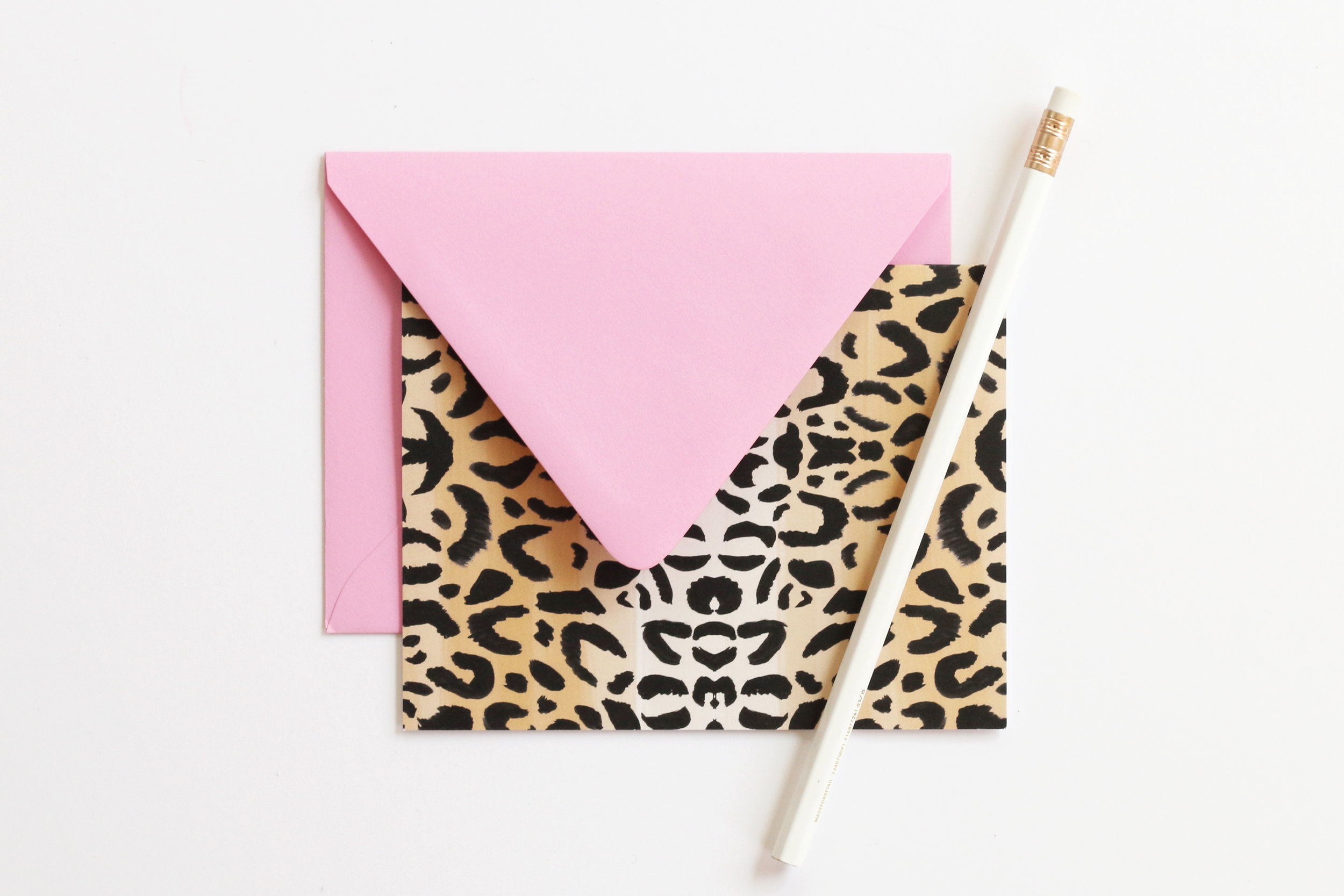 Beautiful Leopard Print Note Cards