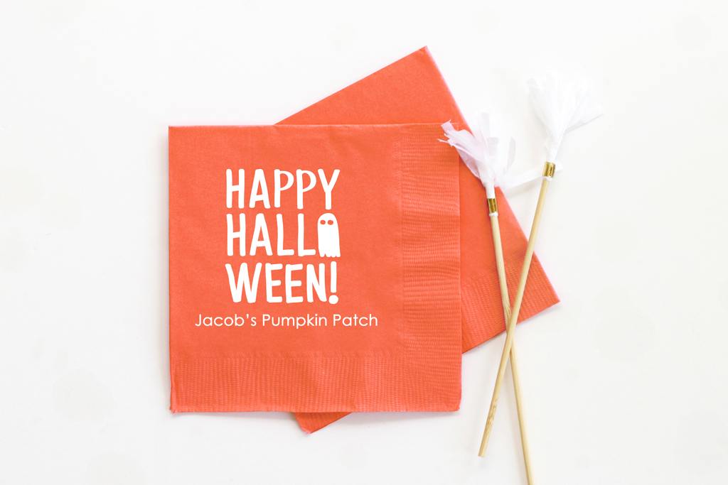 Personalized Halloween Cocktail Napkins When It Rains Paper Co Colorful And Fun Paper Goods Office Supplies And Personalized Gifts