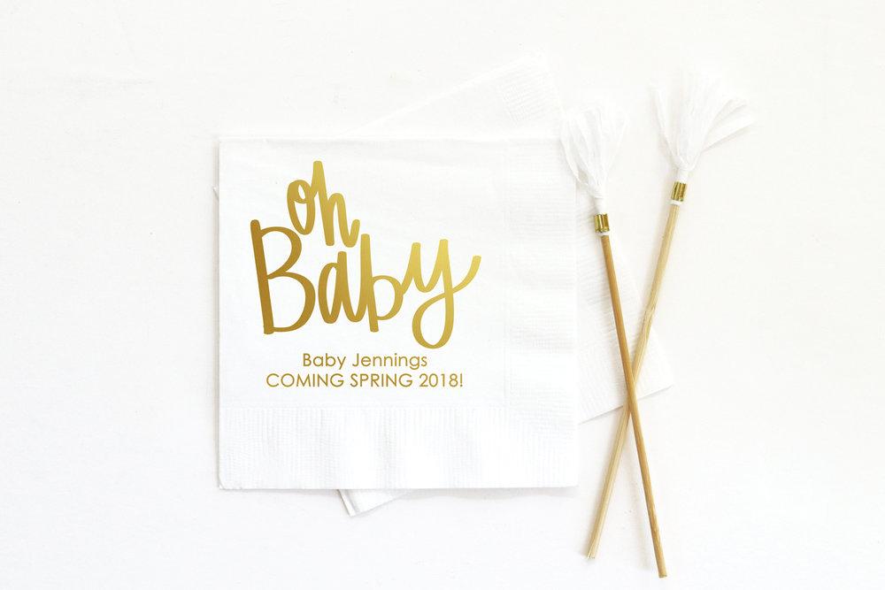 Custom Baby Shower Napkins ...