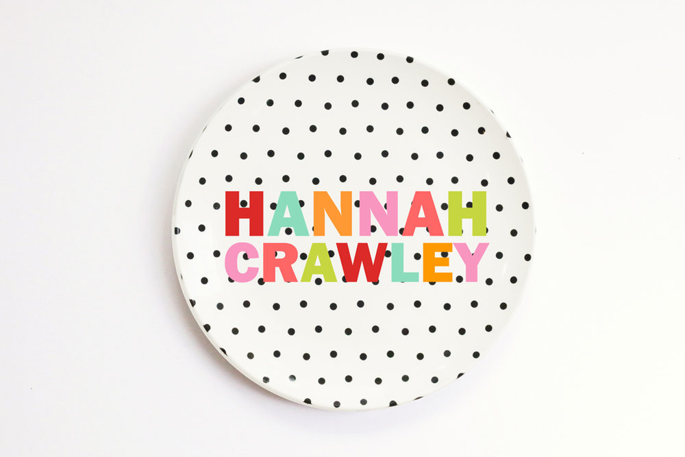 personalized melamine plate for kids ...  sc 1 st  When it Rains Paper Co. & Plates \u2014 When it Rains Paper Co. | Colorful and fun paper goods ...