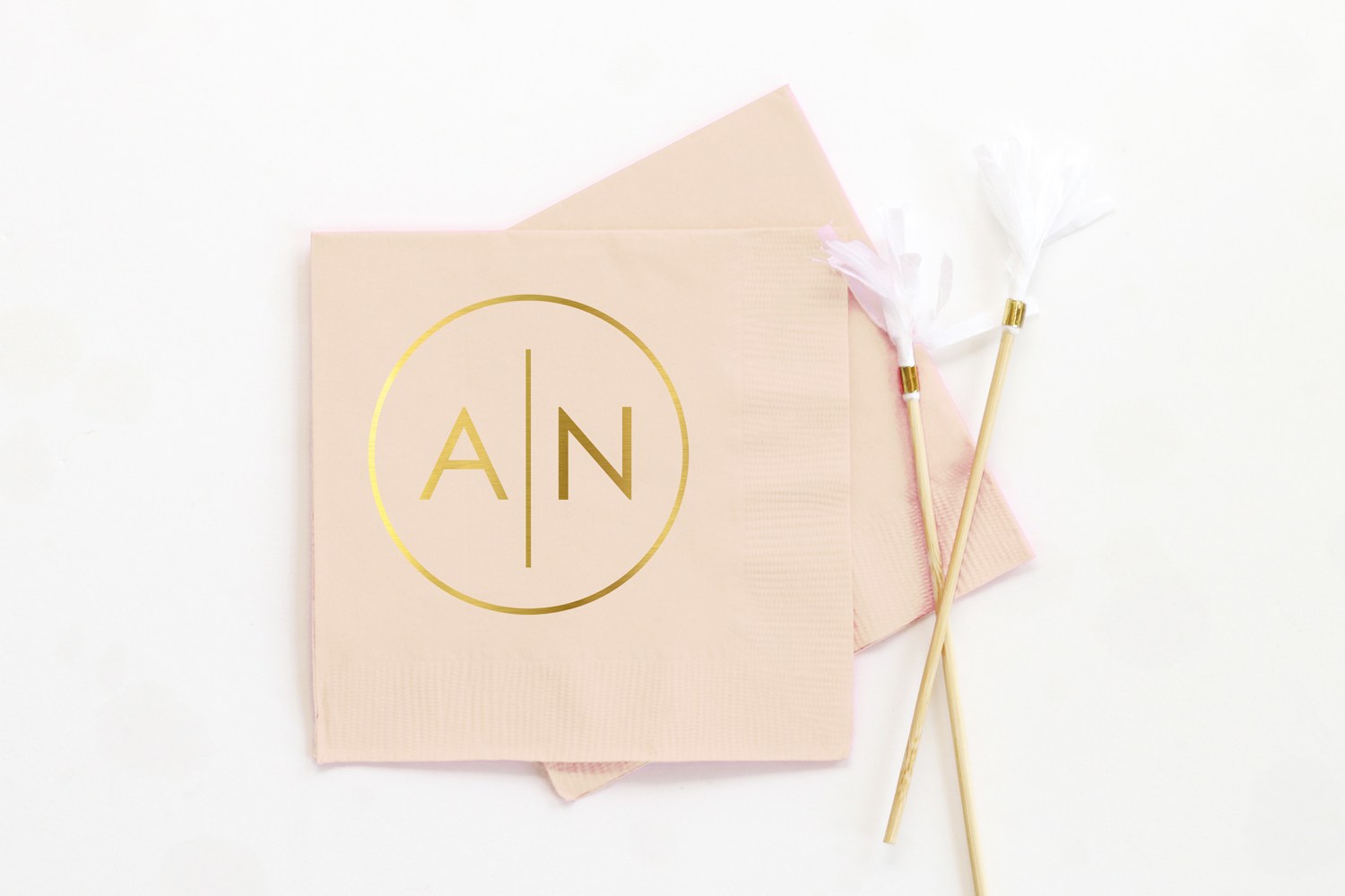 Personalized Wedding Napkins — When it Rains Paper Co.  Colorful and fun  paper goods, office supplies, and personalized gifts.
