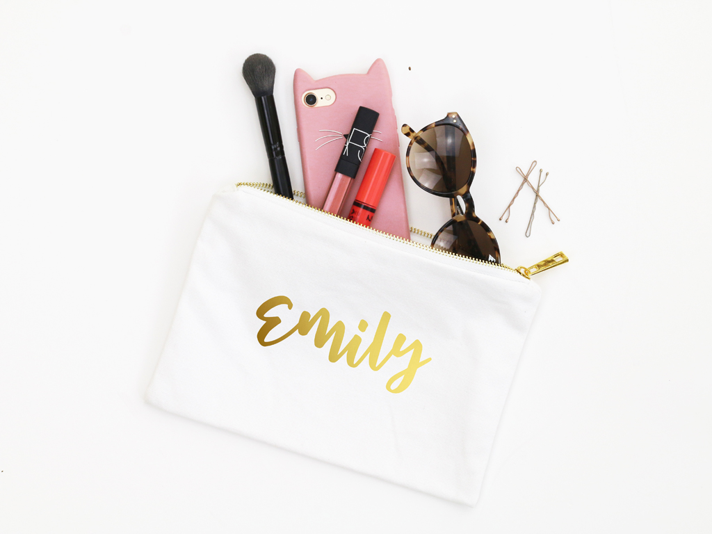 Personalized Cosmetic Bag Bridesmaid Gifts When It Rains Paper Co Colorful And Fun Paper Goods Office Supplies And Personalized Gifts