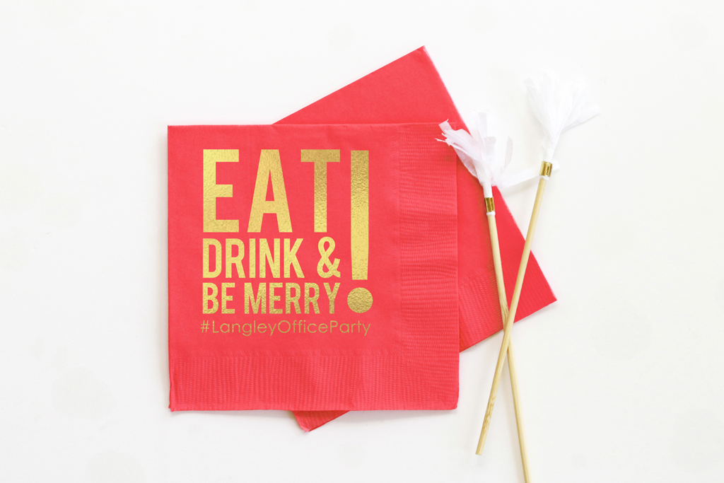 Personalized Christmas Cocktail Napkins When It Rains Paper Co Colorful And Fun Paper Goods Office Supplies And Personalized Gifts
