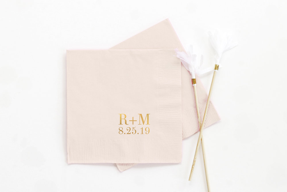 Wedding Cocktail Napkins When It Rains Paper Co Colorful And Fun Paper Goods Office Supplies And Personalized Gifts
