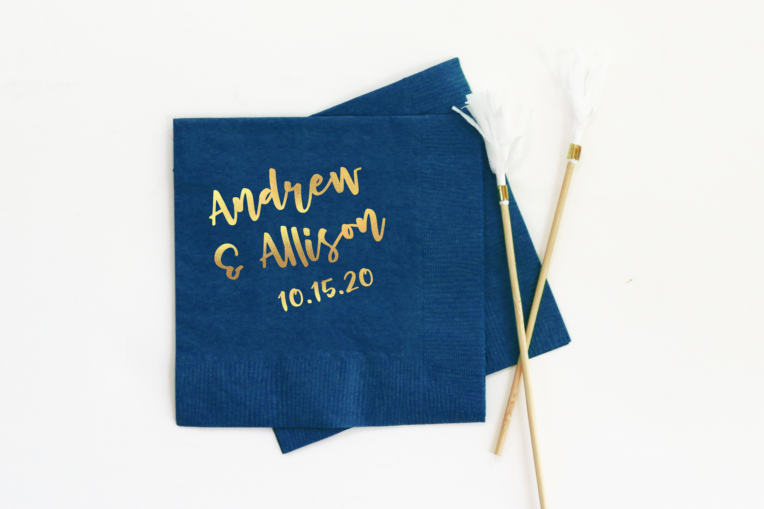 Personalized Engagement Party Cocktail Napkins When It Rains Paper Co Colorful And Fun Paper Goods Office Supplies And Personalized Gifts