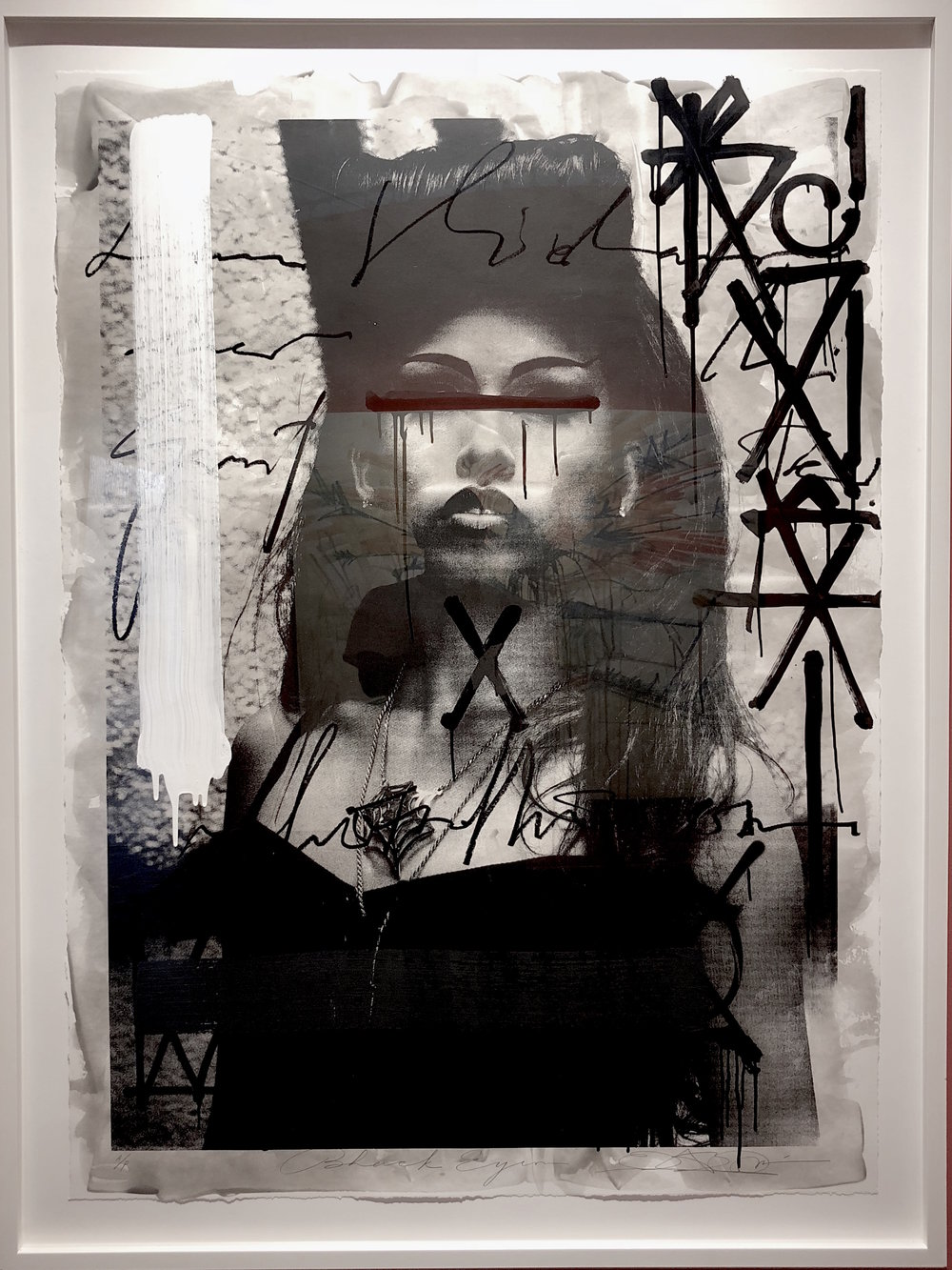 RETNA / Black Eyes / 2012 / Hand-painted photograph / 60 x 40 inches