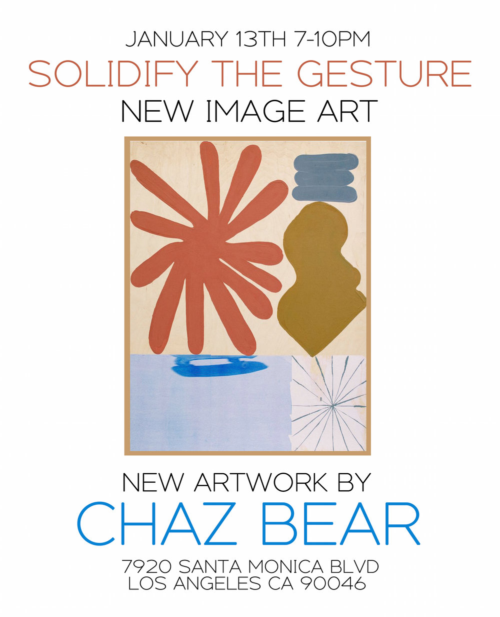 CHAZ BEAR - SOLIDIFY THE GESTURE