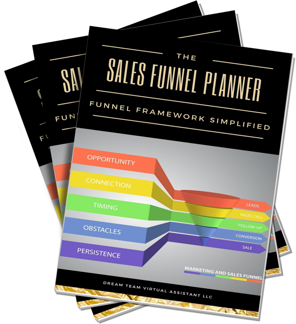 Get Yours Today! - Do you have an excellent product that you want to share with the world, but you're not sure how to market it to them? You need our 22 pageSales Funnel Planner!