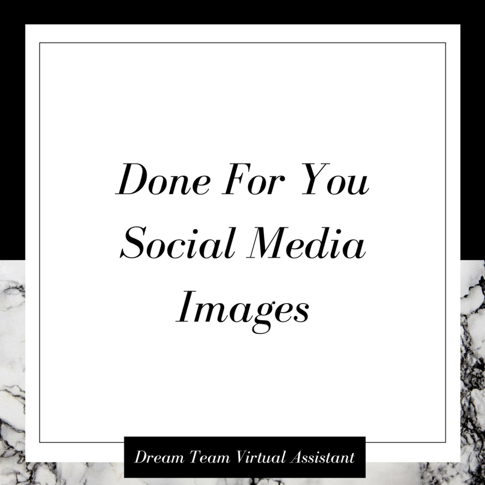 Done For You Social Media Images