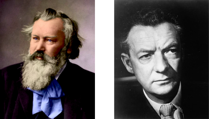 Johannes Brahms e Benjamin Britten.