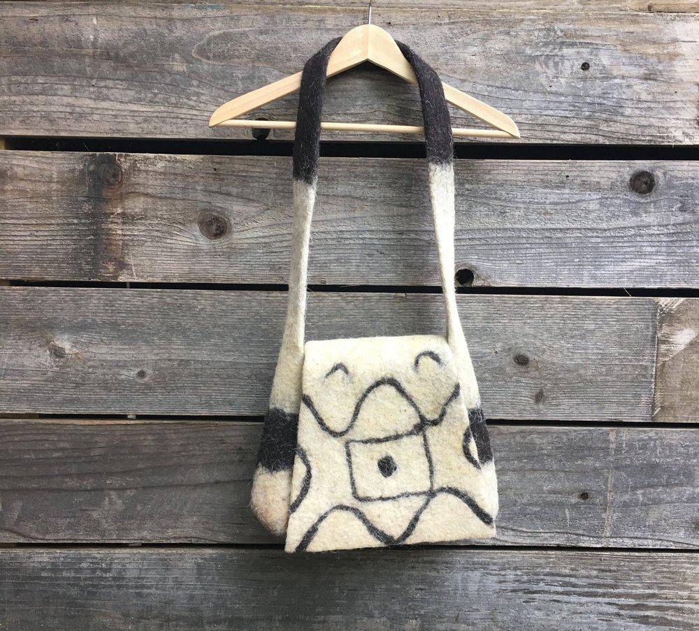 Compressed Wool Shoulder Messenger Bag