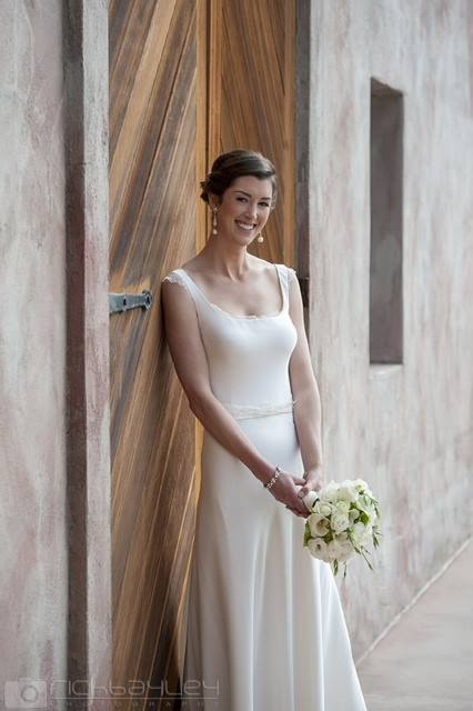 L - silk satin crepe, french lace - Queenstown Bridal - Rich Bayley Photography
