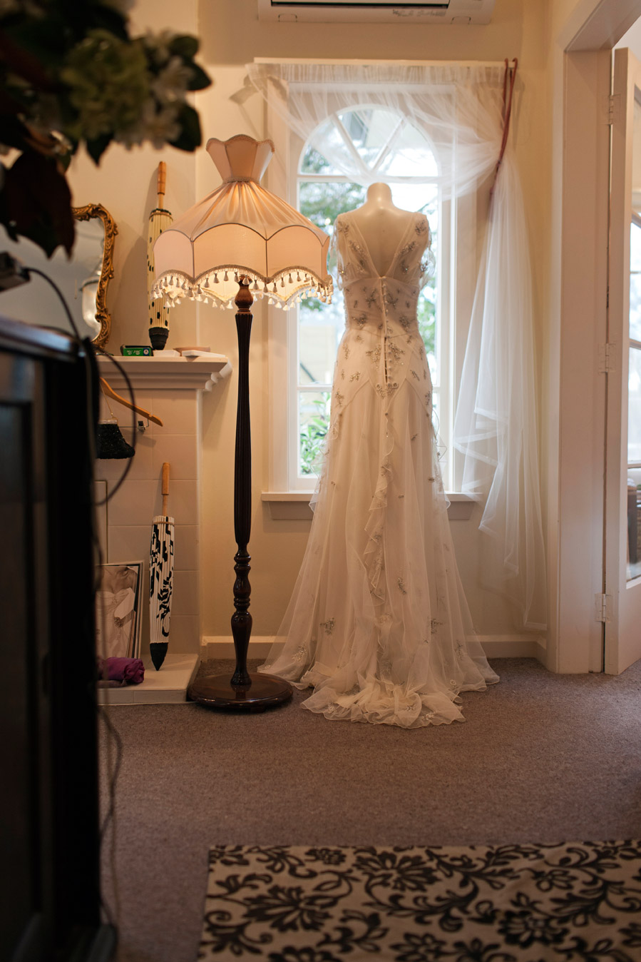 Dean Mackenzie Photography - Avenues Article - Silk and french lace custom sample - Christchurch Bride