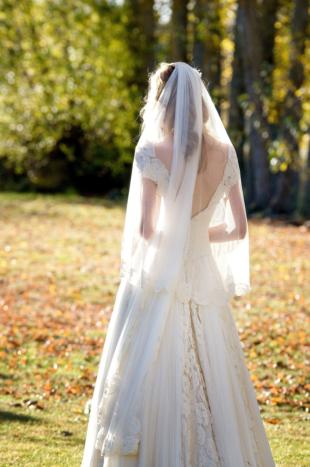 Justine - silk satin crepe, silk tulle, vintage lace - Christchurch Bride - Tracey Alsop Photography