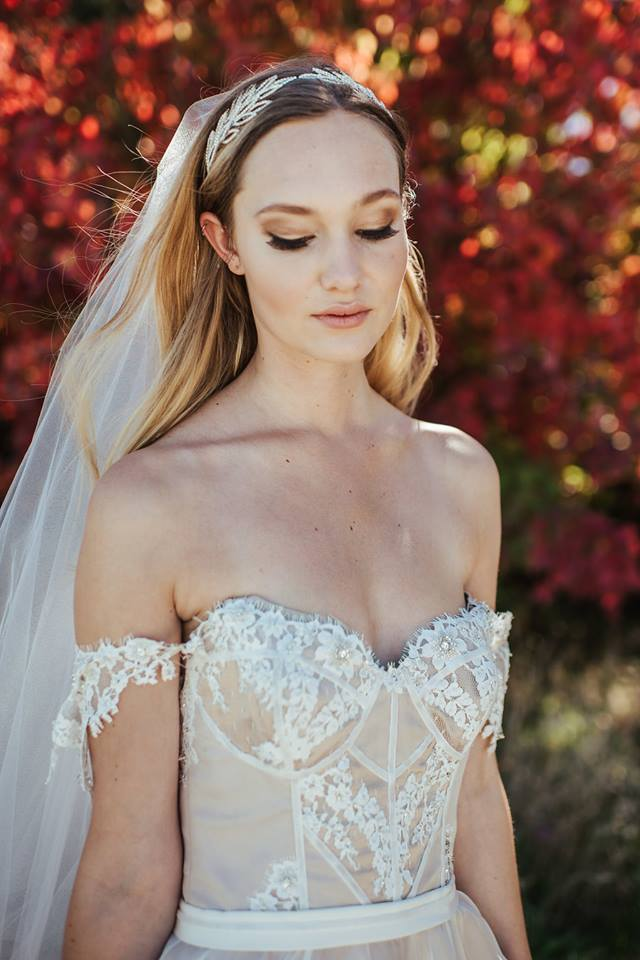model wears custom sample - Mount Hutt bride - Sarah Clements Photography