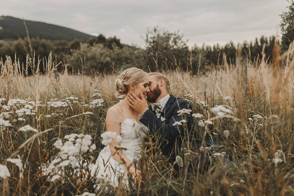 Eve - silk peau de soie, french lace - Mt Cook wedding - Sarah Drummond Photography