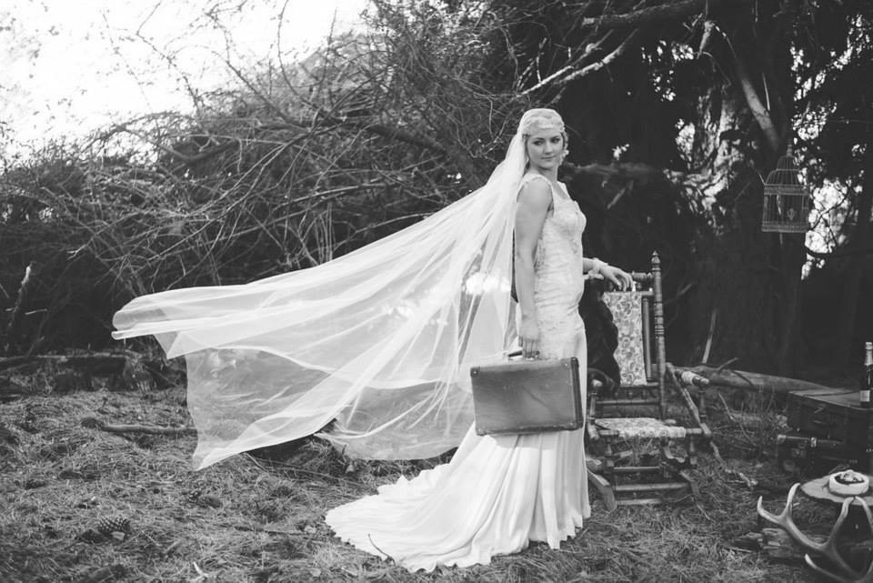 Eve wears peau de soie gown - styled forest shoot - Johanna Macdonald Photography