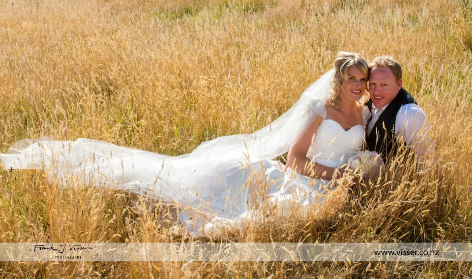Katrina - silk dupion, silk chiffon - South Canterbury bridal - Frank Visser Photography