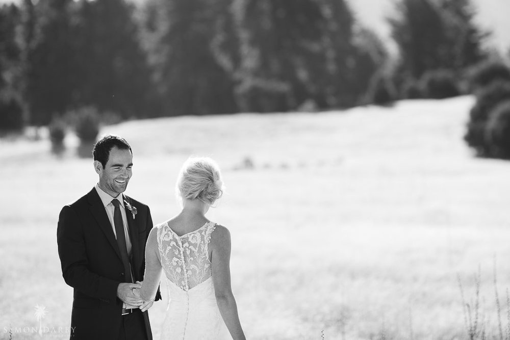 Charlie - silk satin crepe, lace - Queenstown bride - Rich Bayley Photography