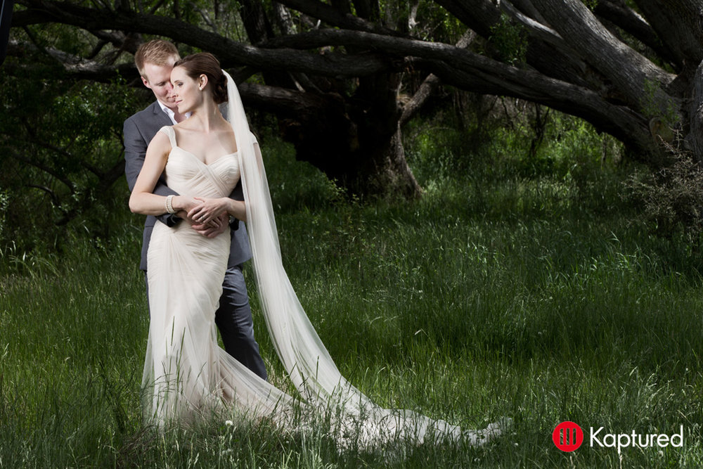 Danny - silk satin crepe, silk tulle - Castle Rock bride - Kaptured Photography